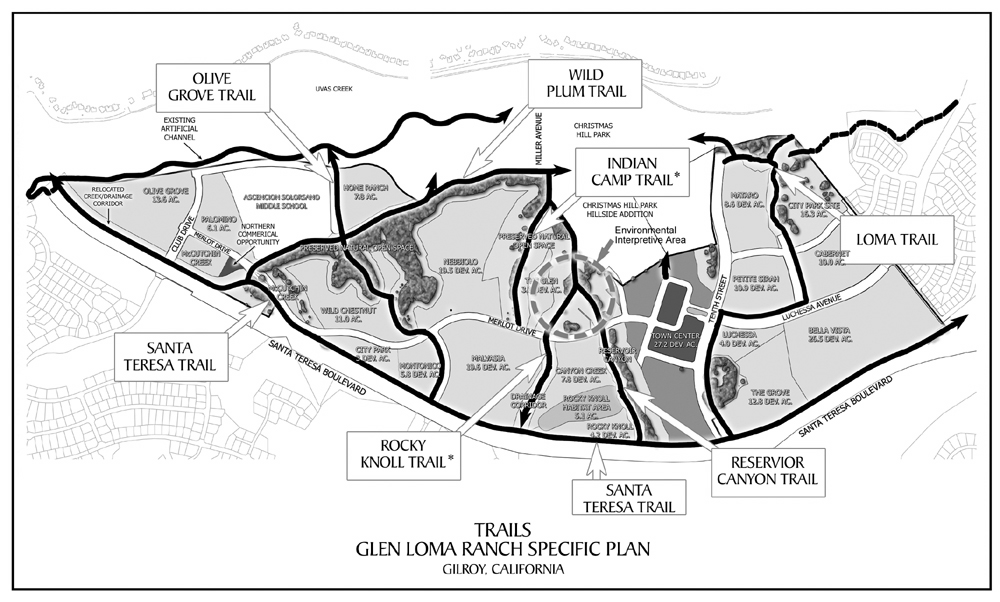 Christmas Hill Park Map.Trails Map